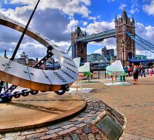Sun Dial and Tower Bridge - London Festival - HDR by Colin J Williams Photography