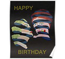 Lesvos Rose Happy Birthday Poster