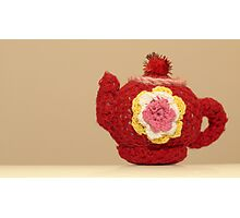 knitted teapot Photographic Print