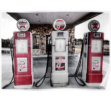Old Gas Pumps - Decatur , Texas 2 Poster