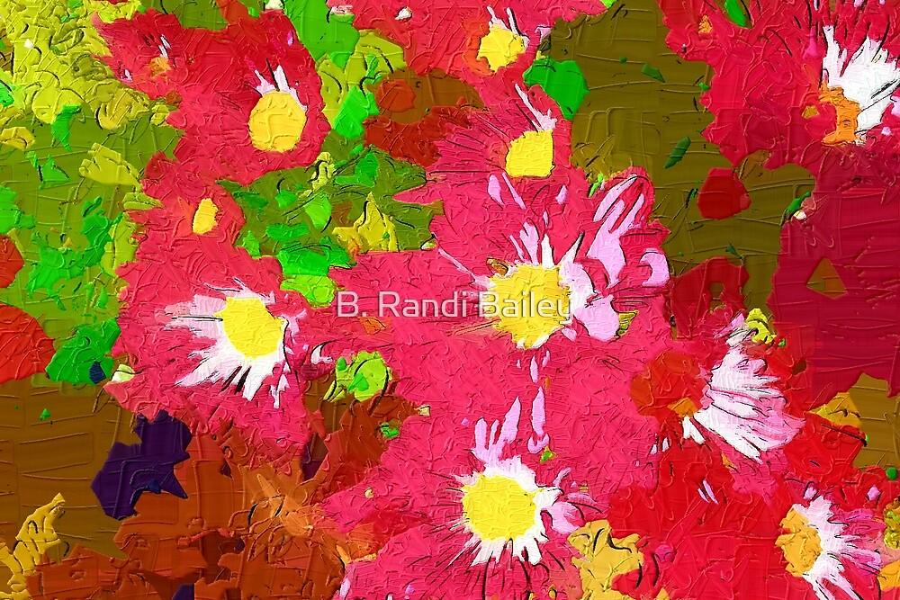 Deep pink daisy chrysanthemums by ♥⊱ B. Randi Bailey