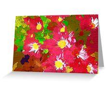 Deep pink daisy chrysanthemums Greeting Card