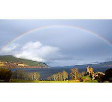 Rainbow over Loch Ness.  Photographic Print