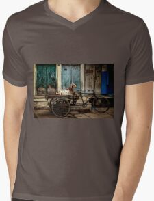 Goat on Wheels Mens V-Neck T-Shirt
