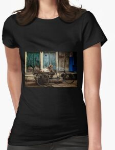 Goat on Wheels Womens Fitted T-Shirt