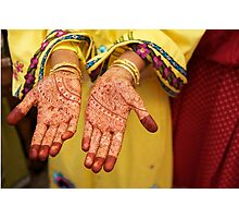 Mehendi in Udaipur Photographic Print