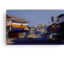 nagpur market. acrylic on canvas 60x36 inches Canvas Print