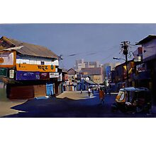 nagpur market. acrylic on canvas 60x36 inches Photographic Print