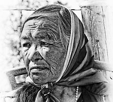 A Portrait of an Elderly Native Woman by peaceofthenorth