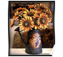 Sunflower Vase Poster