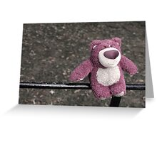 lotso on the fence Greeting Card