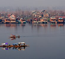 Shikaras and Houseboats at Dal Lake by Mukesh Srivastava