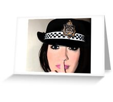police woman Greeting Card