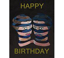 Mykonos By Night Happy Birthday Photographic Print