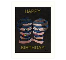 Mykonos Rose Happy Birthday Art Print