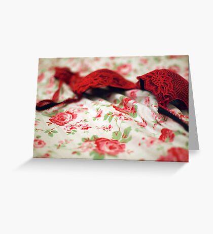 red bra Greeting Card