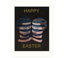 Mykonos Rose Happy Easter Art Print