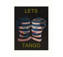 Mykonos Rose Lets Tango Art Print