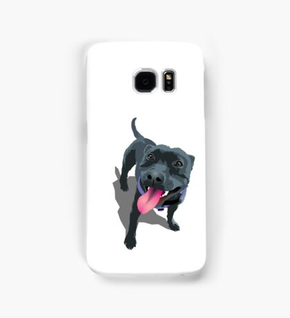 Staffy White Samsung Galaxy Case/Skin