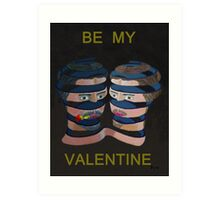 Mykonos Rose Be My Valentine Art Print
