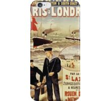 Gustave Fraipont Affiche Ouest Paris Londres iPhone Case/Skin