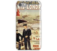 Gustave Fraipont Affiche Ouest Paris Londres iPhone Case/Skin