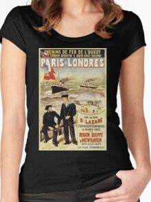Gustave Fraipont Affiche Ouest Paris Londres Women's Fitted Scoop T-Shirt