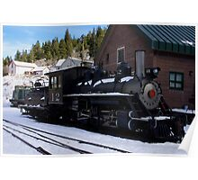 Narrow gage engine at Silverplume Depot Poster