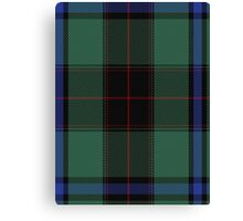 00529 Black Thistle Tartan  Canvas Print
