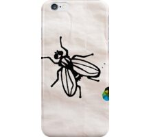 Fly Wall Paper Painting  - Prints and Posters by Robert R iPhone Case/Skin