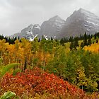 Foggy Fall at Maroon Bells by Ken Fleming