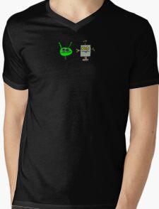 Martian versus Killer Robot Mens V-Neck T-Shirt