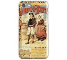 Gustave Fraipont Affiche Ouest Normandie & Bretagne iPhone Case/Skin
