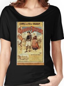 Gustave Fraipont Affiche Ouest Normandie & Bretagne Women's Relaxed Fit T-Shirt