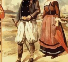 Gustave Fraipont Affiche Ouest Normandie & Bretagne Sticker