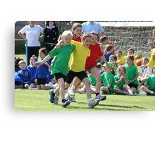 School Sports Day - The Three-Legged Race Canvas Print