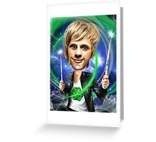 Dominic Howard Caricature Greeting Card