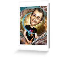 Chris Wolstenholmes Caricature Greeting Card