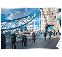 Across Tower Bridge: London, England. Poster