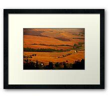Tuscany panorama Framed Print