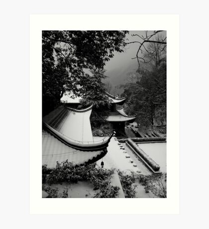 Roof Tops To Mountain Tops Art Print
