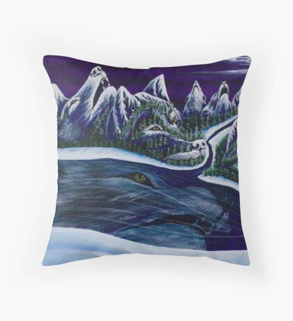 Wolf Spirit - Greeting Cards Throw Pillow