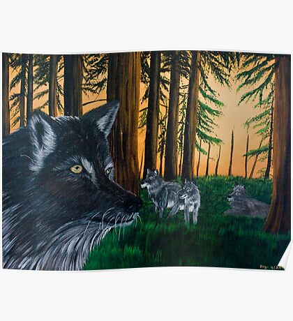 Wolves in the Forest - Prints & Posters Poster