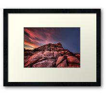 Up To Sunset Framed Print