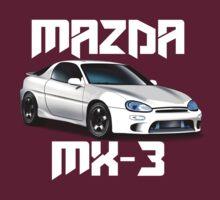 Mazda MX-3 (White car, big text)  by nwdesign