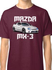 Mazda MX-3 (White car, big text)  Classic T-Shirt