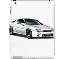 Mazda MX-3 (White car, big text)  iPad Case/Skin