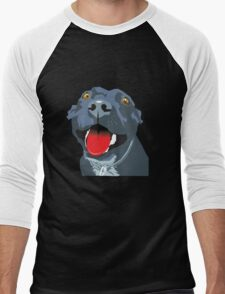 Black Staffie Men's Baseball ¾ T-Shirt