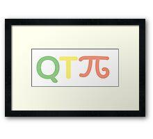 Q T Pi #2 Framed Print