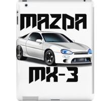 Mazda MX-3 (White font, big text)  iPad Case/Skin